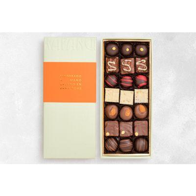 Caja con 21 Piezas de Chocolate
