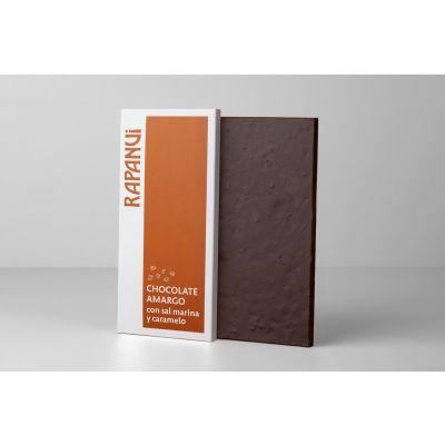 Tableta de chocolate con caramelo y sal marina