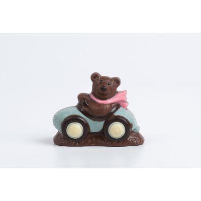 Figura de Chocolate: Oso con auto