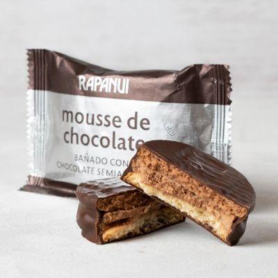 Alfajor mousse de chocolate, bañado en chocolate