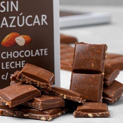 Tableta Chocolate con leche sin azúcar con almendras