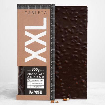 XXL chocolate amargo con almendras