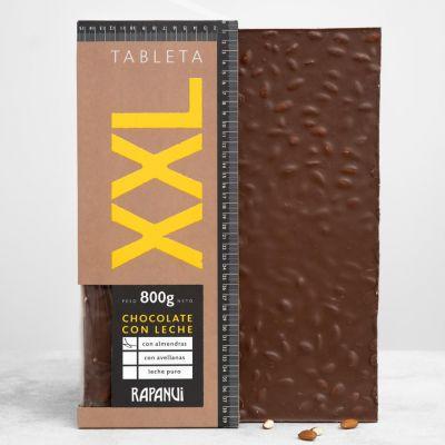 XXL chocolate leche con almendras