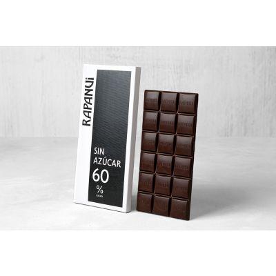 Tableta de chocolate amargo sin azúcar